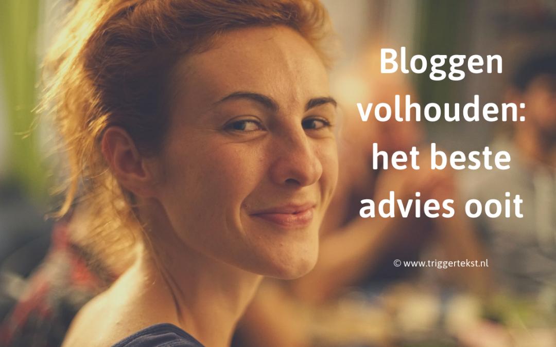 bloggen volhouden