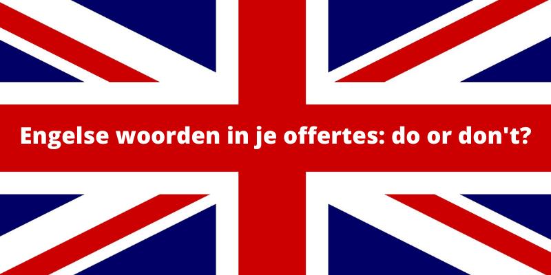 Engelse woorden in offertes: do or don't? (#8)